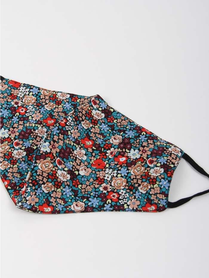 Mascarilla mujer mil flores Multicolor