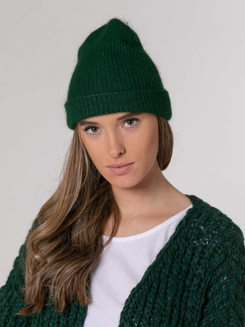 Woman Woman Knitted hat Green