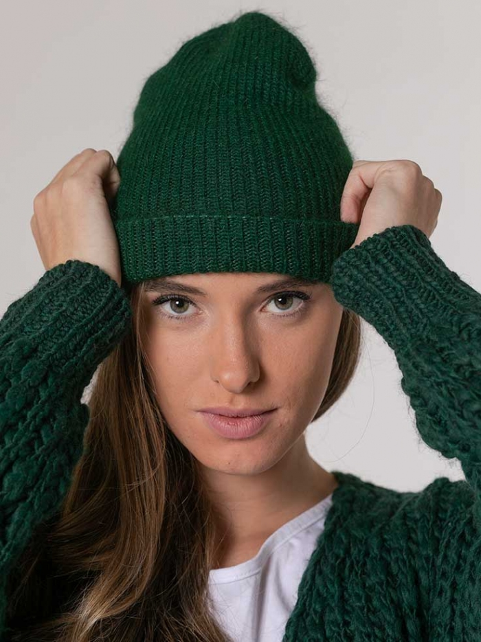 Woman Knitted hat woman Green