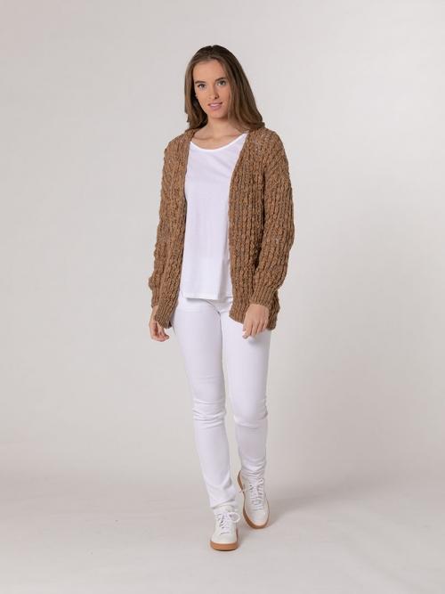 Herringbone wool jacket Camel