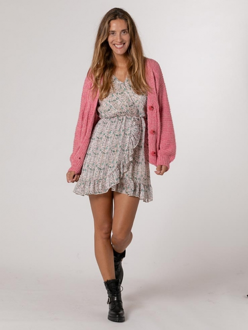 Woman cardigan with buttons Pink
