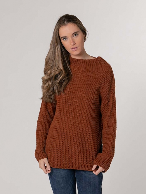 Curvy knit sweater avellana