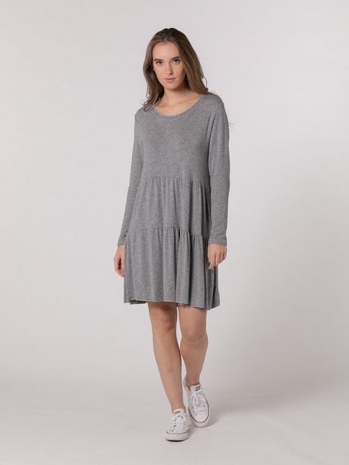 Bigoré knit dress Grey