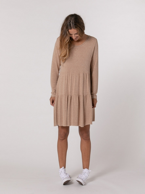 Bigoré knit dress Camel