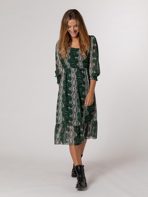 Animal print dress Green