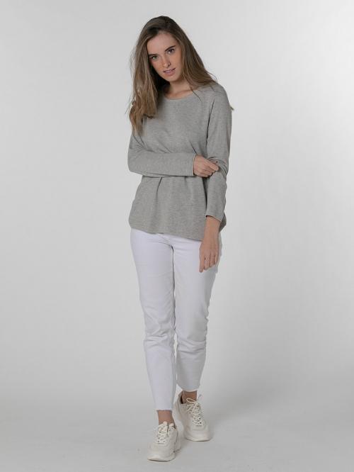Camiseta suave mujer Beige