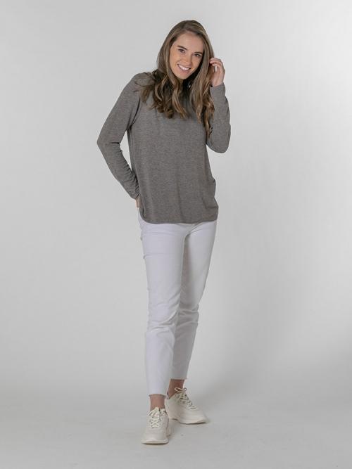 Camiseta suave mujer Marrón