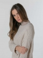 Curvy knit sweater Beige