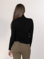 Soft turtleneck sweater Black