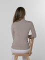 Soft thick turtleneck sweater Beige