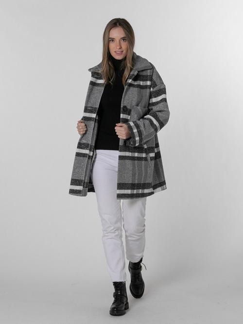 Special check coat Black