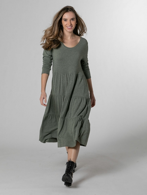 Long bigoré dress Khaki