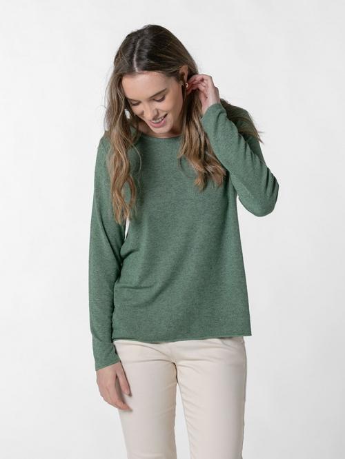 Camiseta suave mujer Verde botella