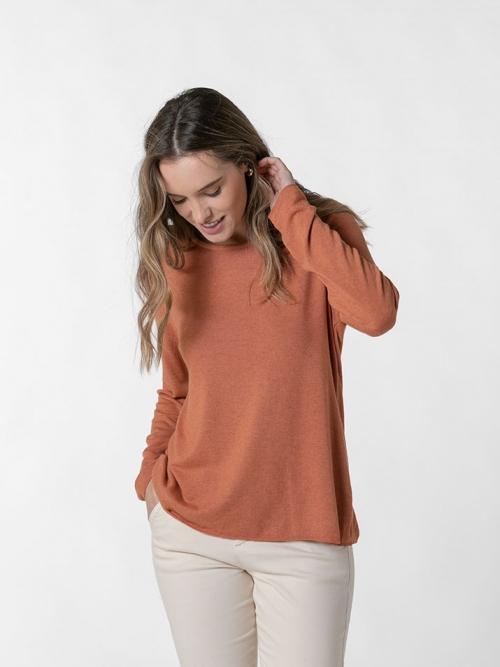 Camiseta suave mujer Teja