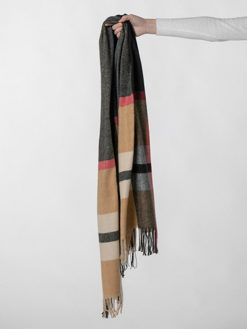 Burberry check wool scarf Black