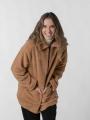 Shearling coat with zip Beige