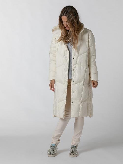 Essence down jacket woman Beige