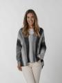 Gradient V-neck knit sweater Grey
