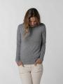 Woman fine turtleneck sweater Grey