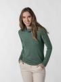 Woman fine turtleneck sweater Green