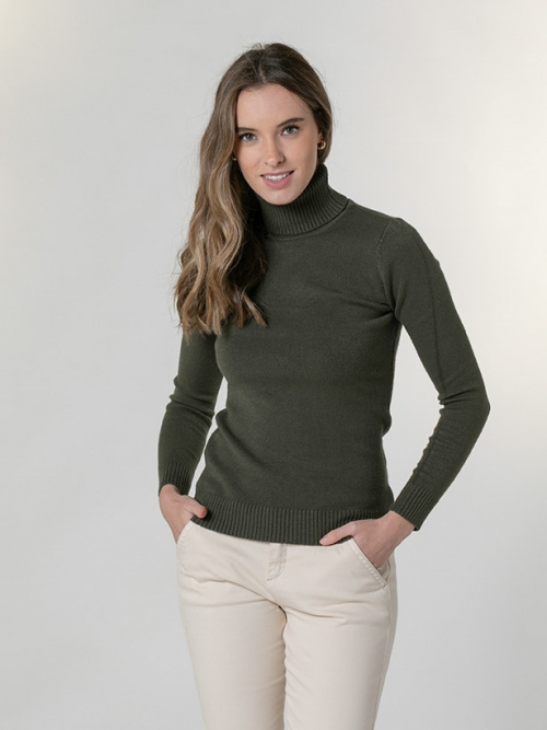 Soft thick turtleneck sweater Khaki