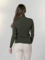 Soft thick turtleneck sweater Khaki