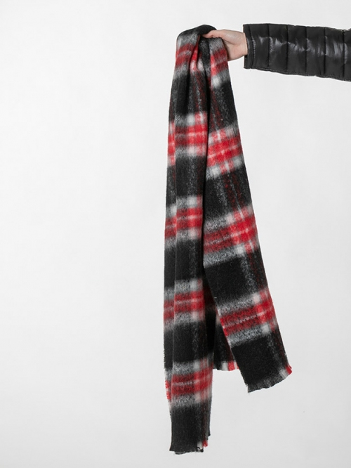 Woman Check scarf Red
