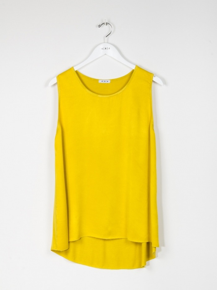 TOP RASO LISO AMARILLO