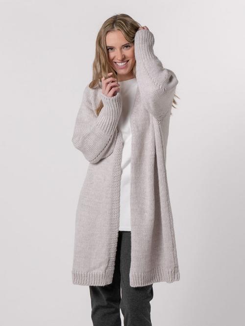 Special long knit jacket Beige