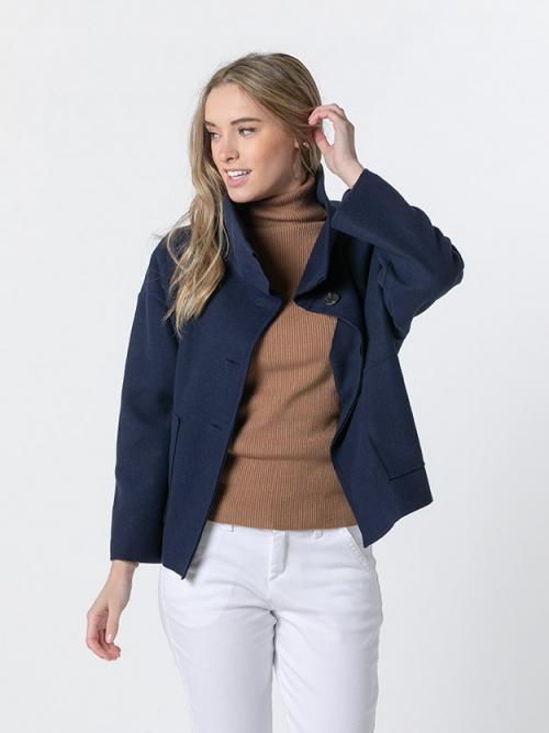 Abrigo corto botones Azul Marino