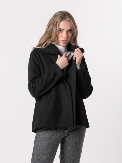 Abrigo corto botones Negro