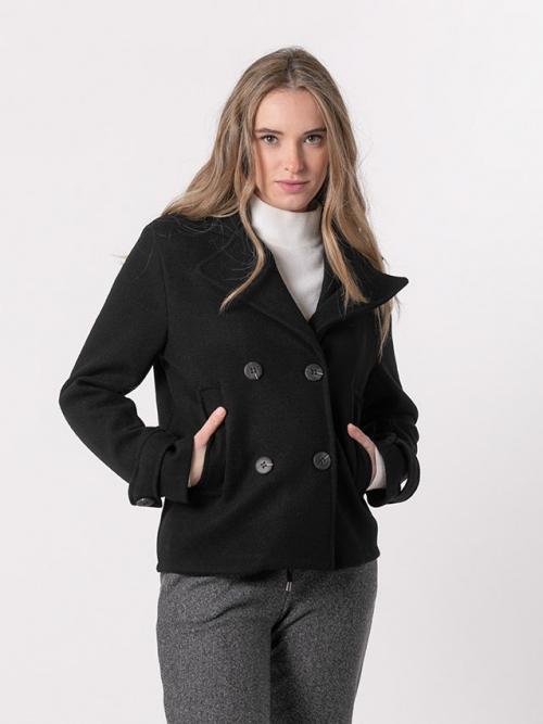 Abrigo corto 4 botones Negro