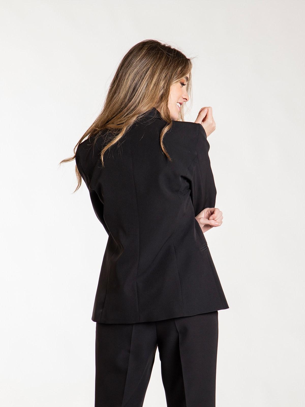 blazer mujer larga mujer Negro