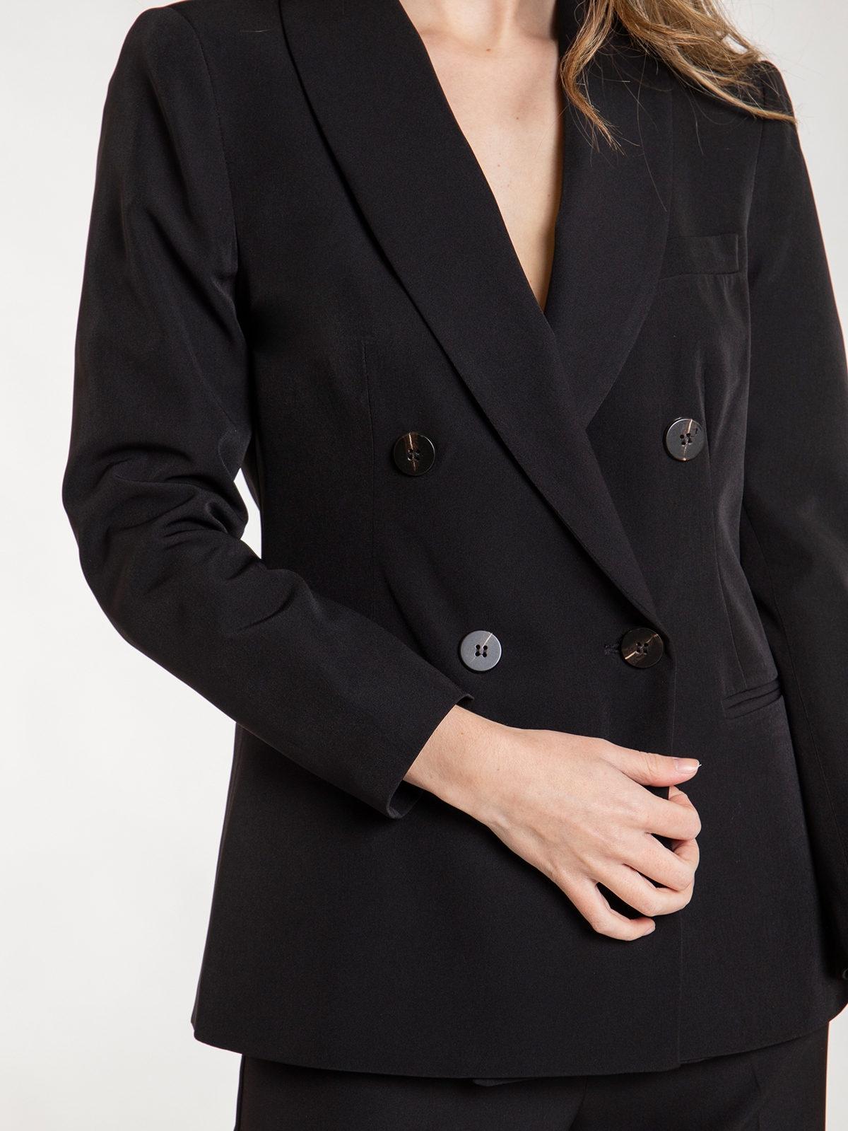 Woman long blazer Black