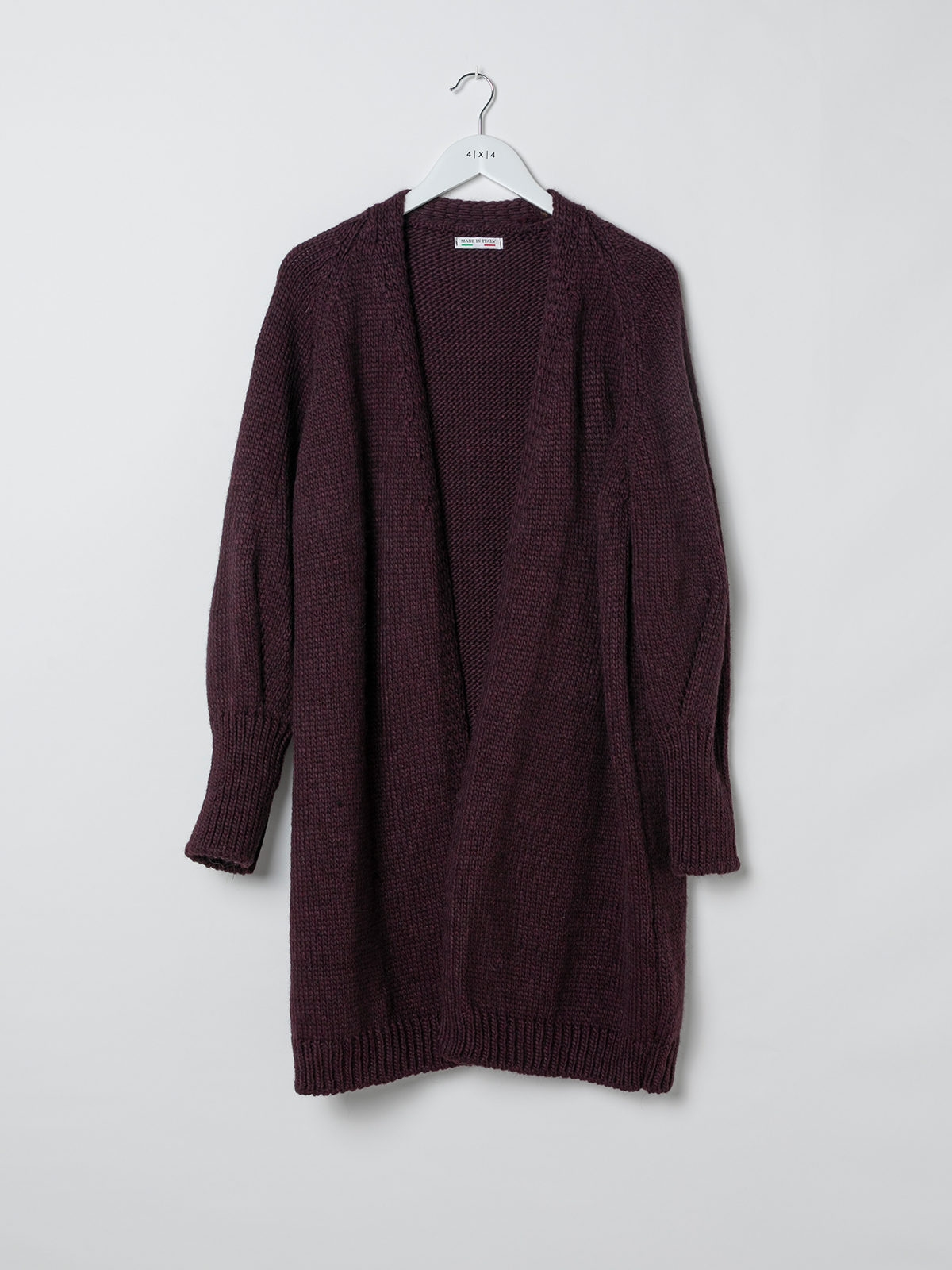 Woman Special long knit jacket Granate