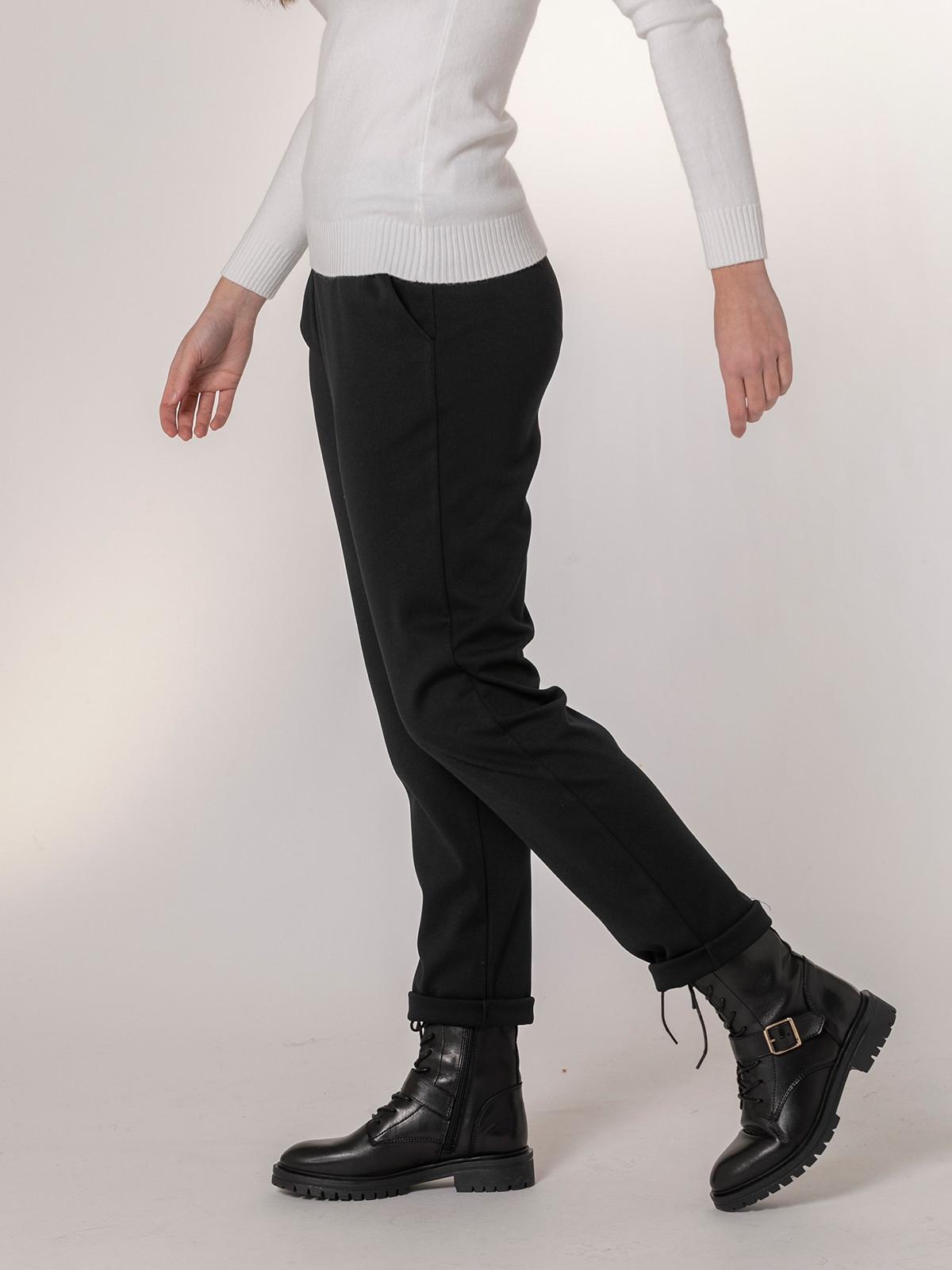 Woman Stretch casual pants Black