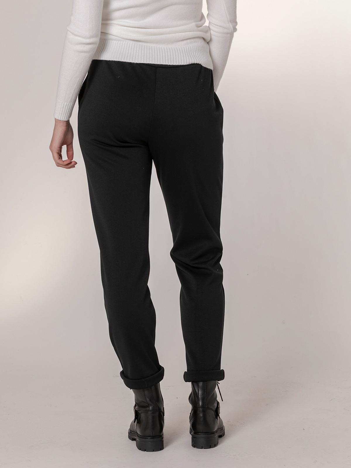 Pantalón mujer casual elástico Negro