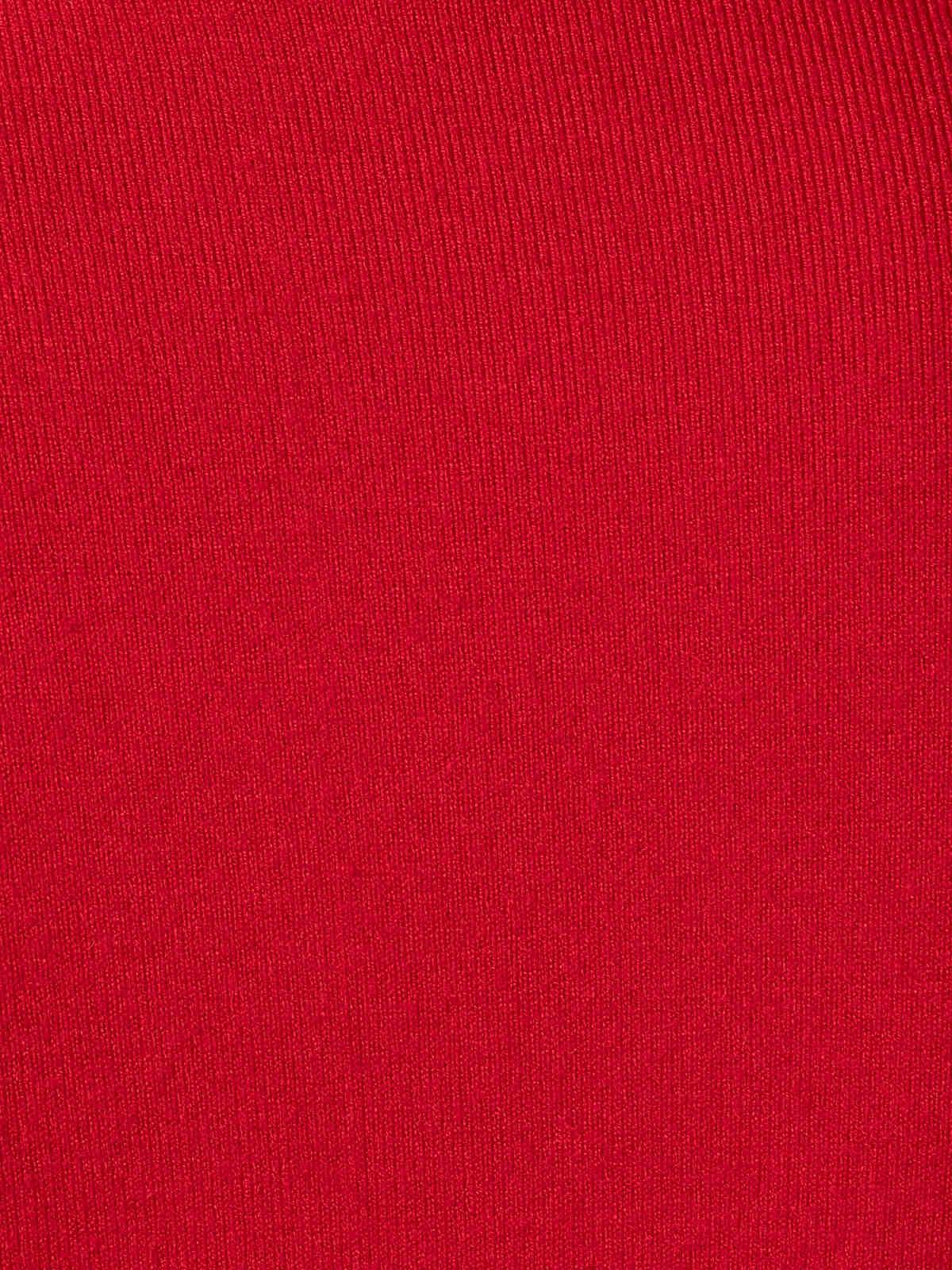Jersey fino mujer cuello alto Rojo