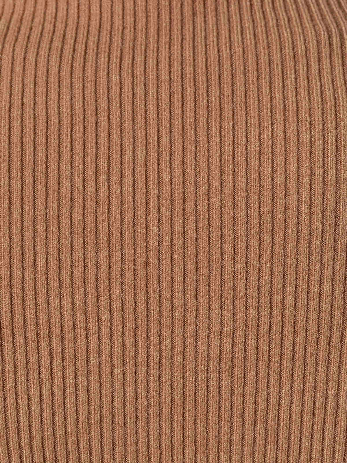 Jersey mujer canale cuello vuelto Camel