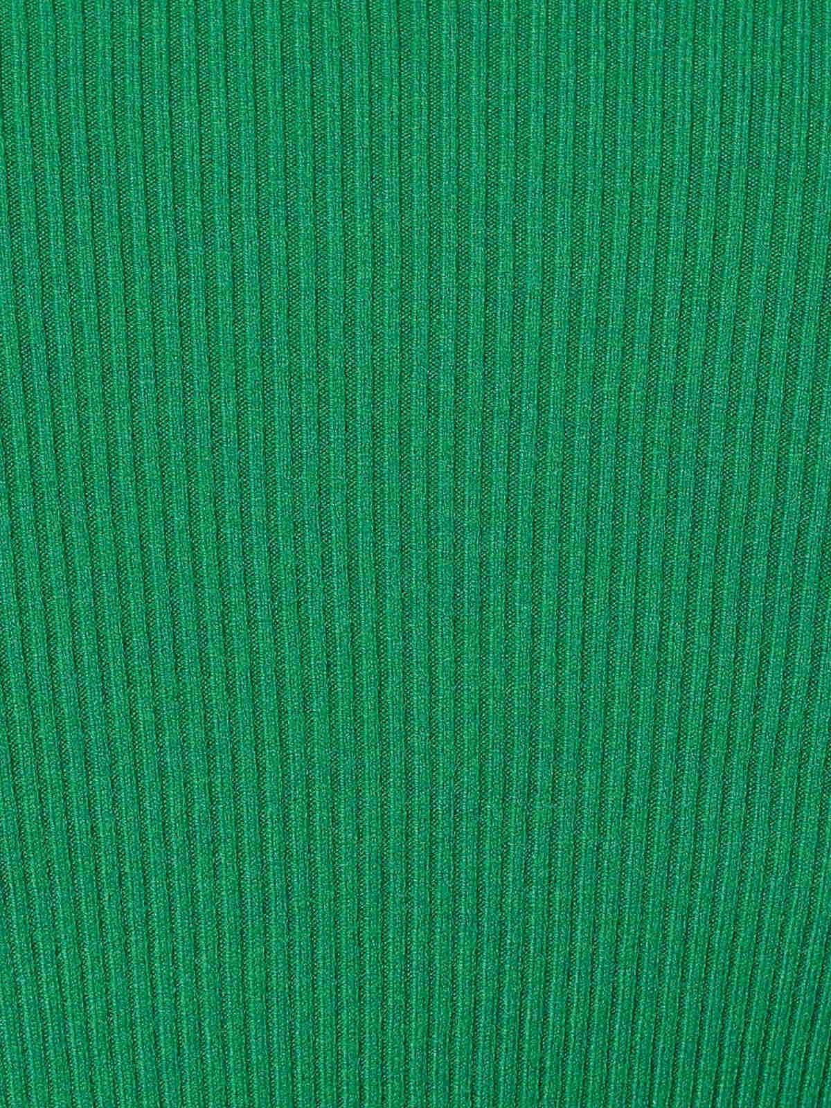 Jersey mujer canale cuello vuelto Verde Gucci