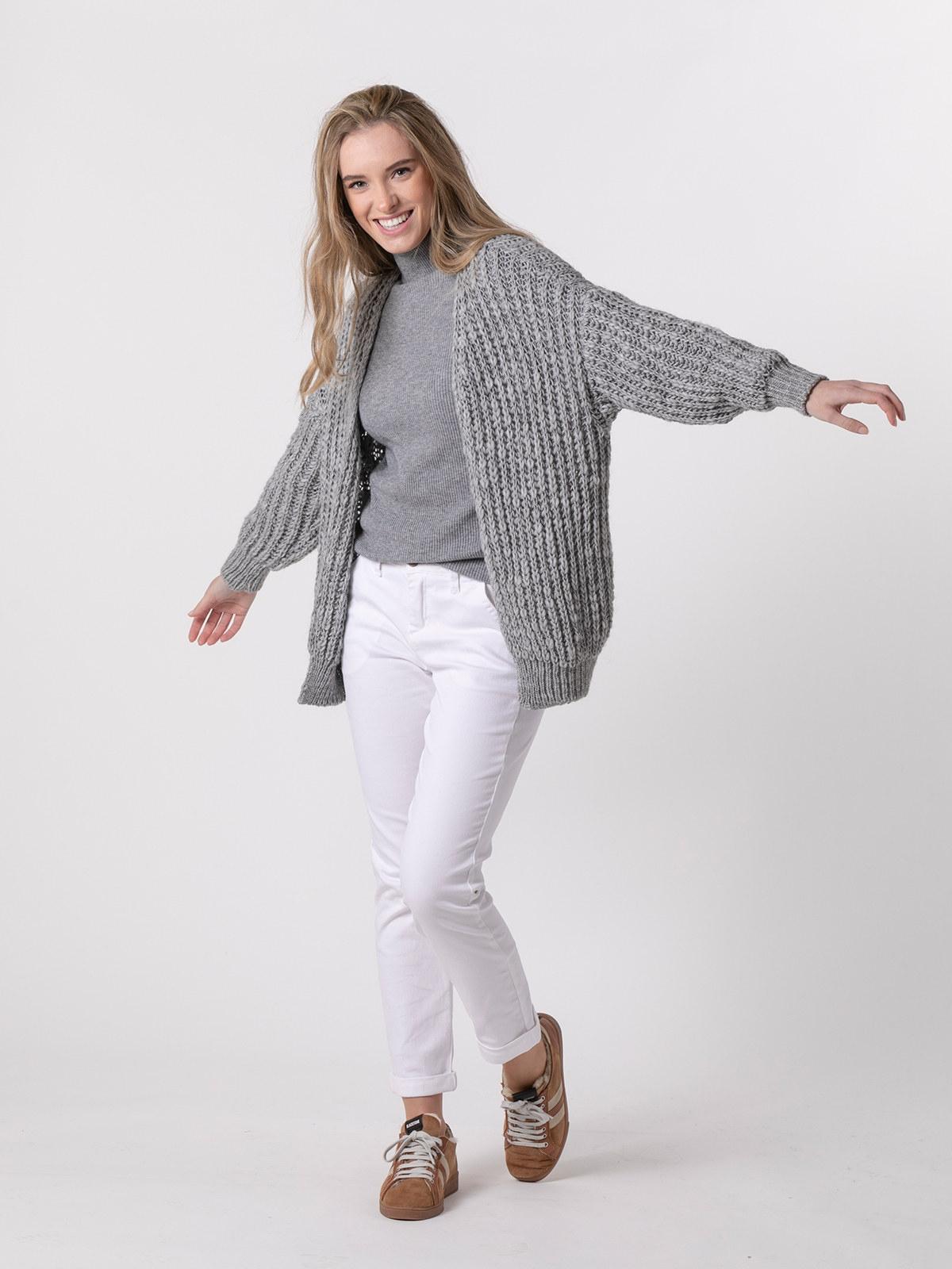 Woman Special knit jacket Grey