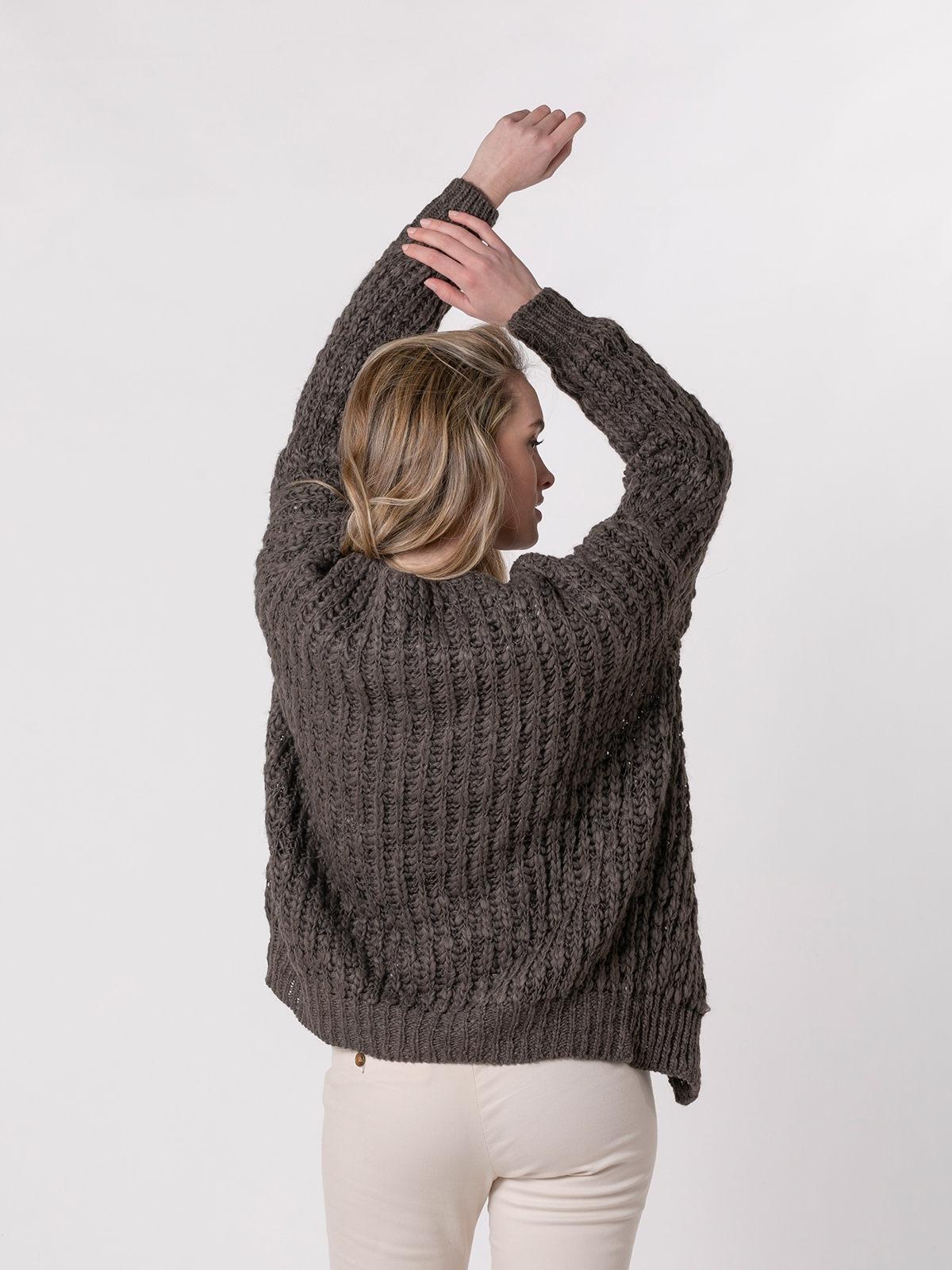 Woman Special knit jacket Marrón