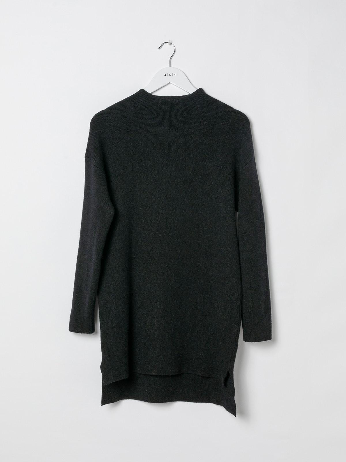 Woman Soft knit dress sweater Black