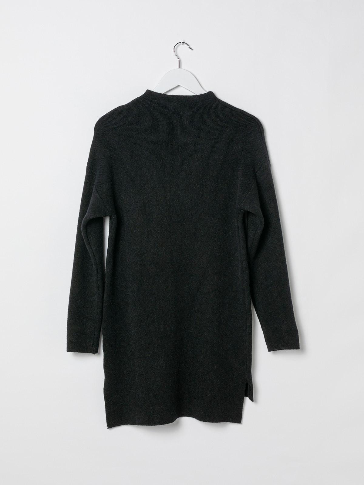 Jersey vestido mujer de punto suave Negro