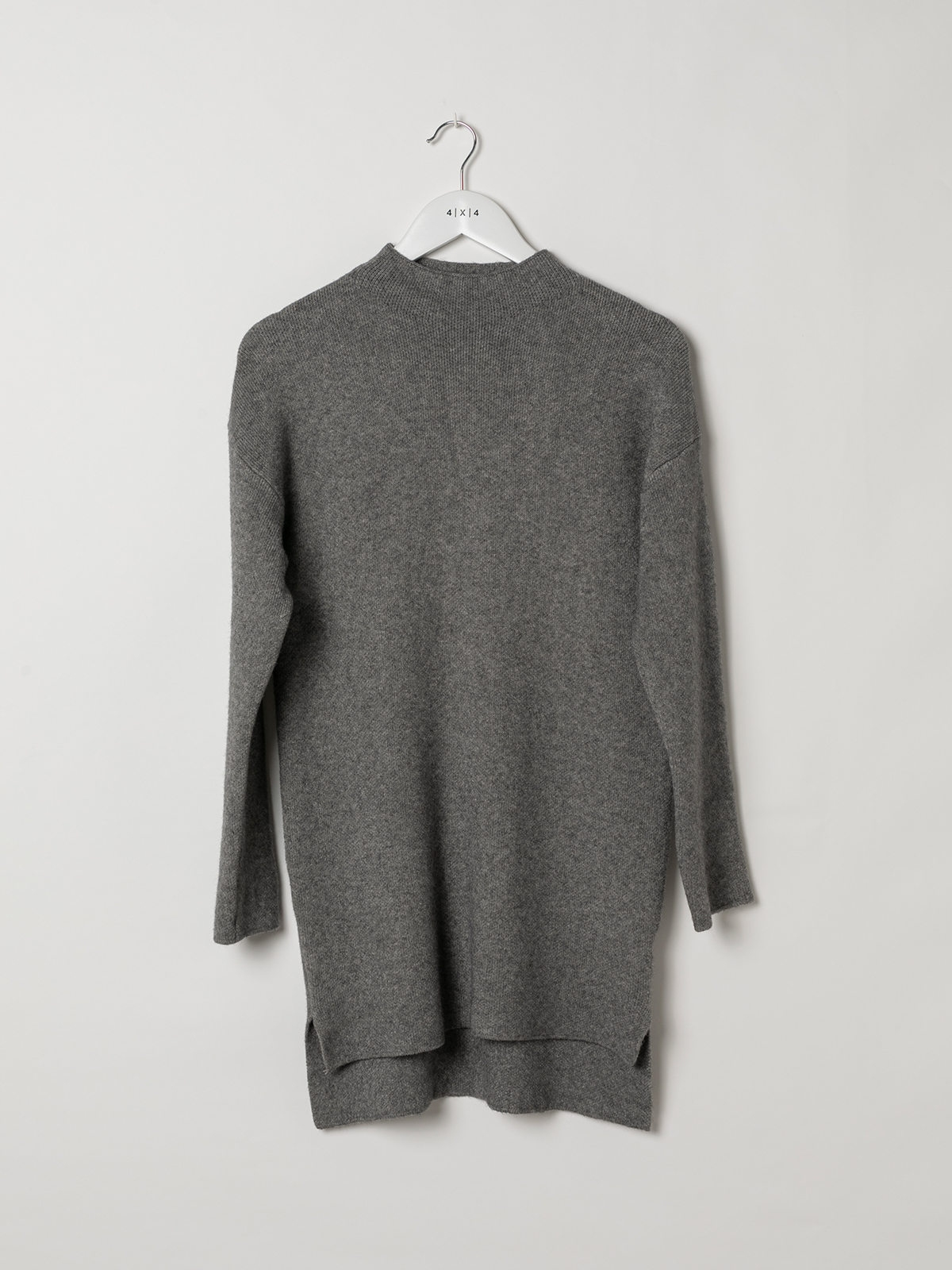 Woman Soft knit dress sweater Grey