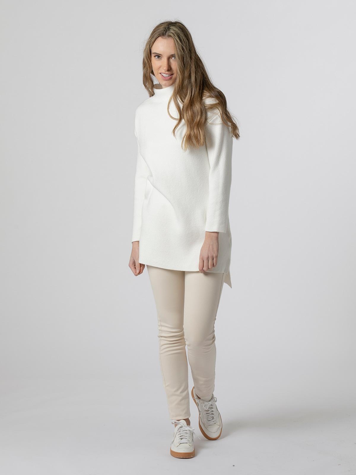 Jersey vestido mujer de punto suave Blanco