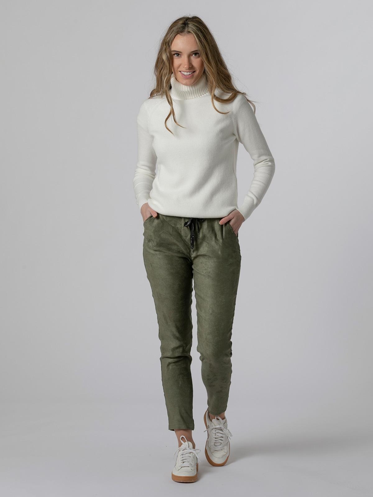 Pantalón mujer sport goma tinte ecológico Caqui