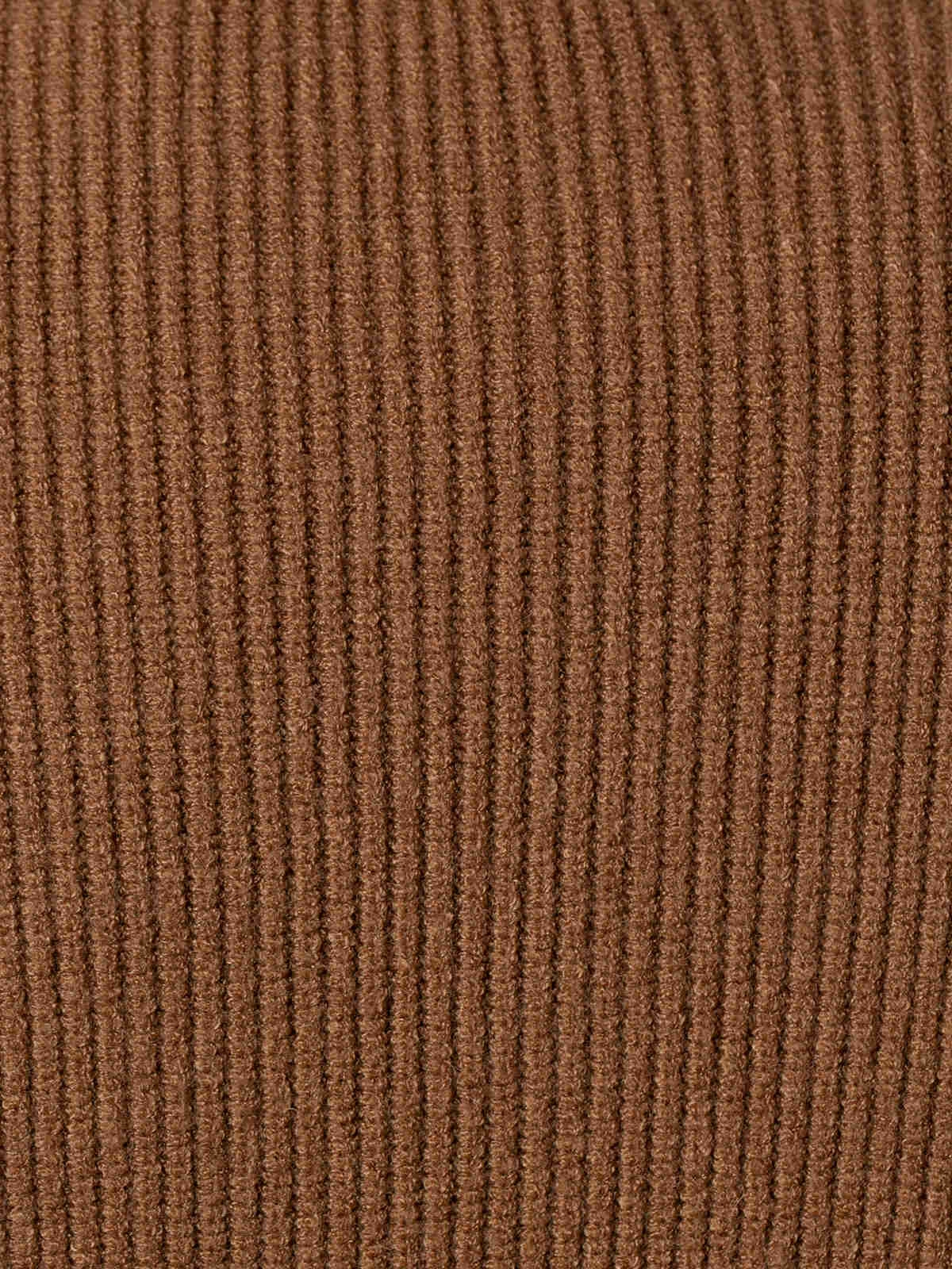 Woman Ribbed turtleneck sweater Camel