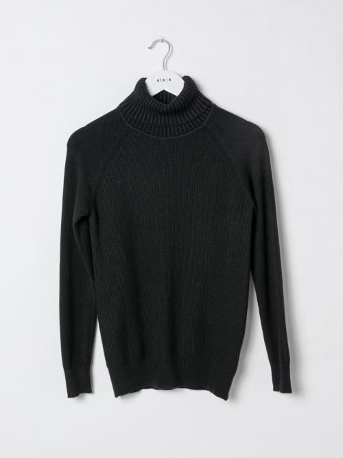 Woman Ribbed turtleneck sweater Black