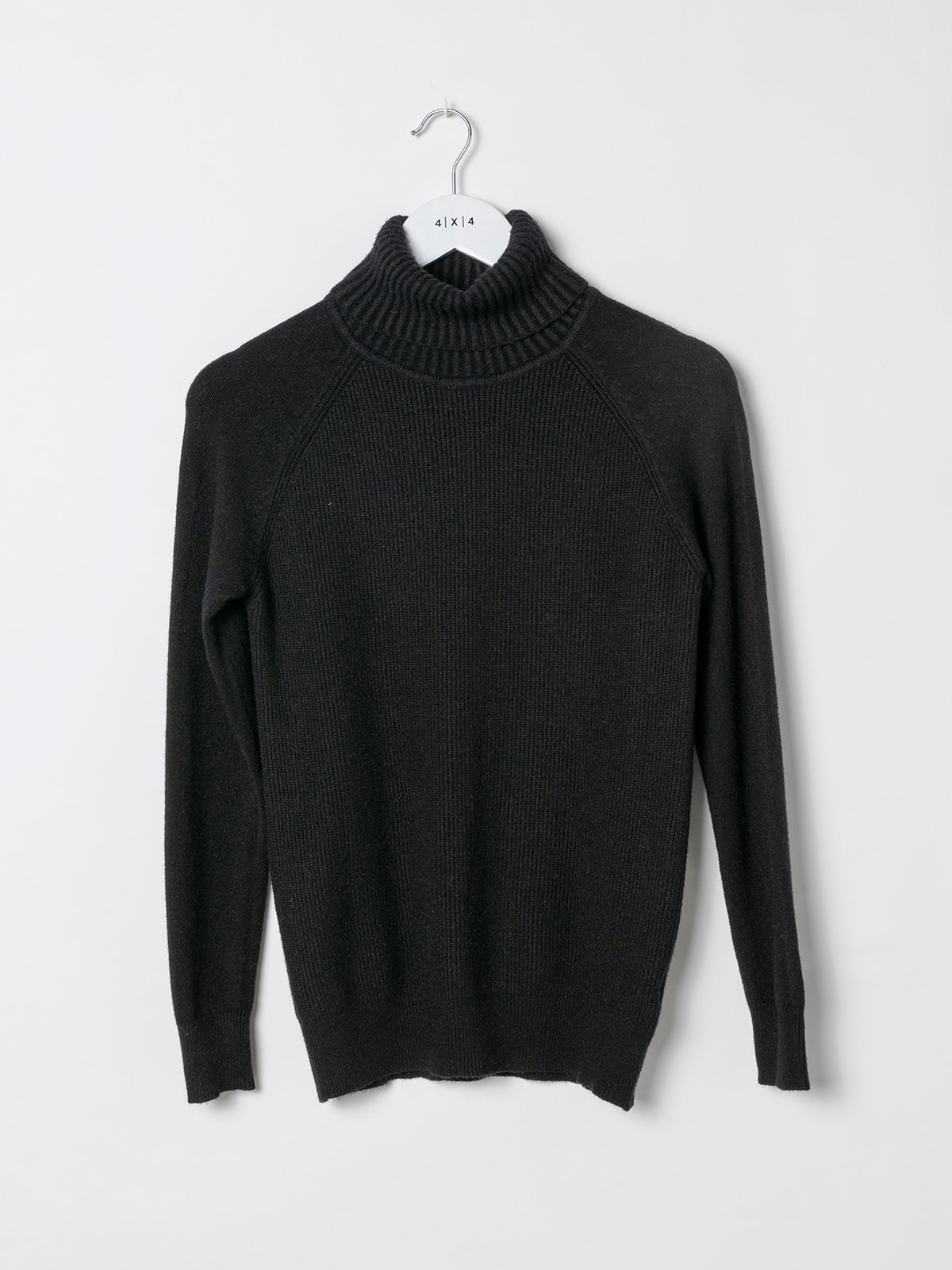 Woman Ribbed turtleneck sweater Black